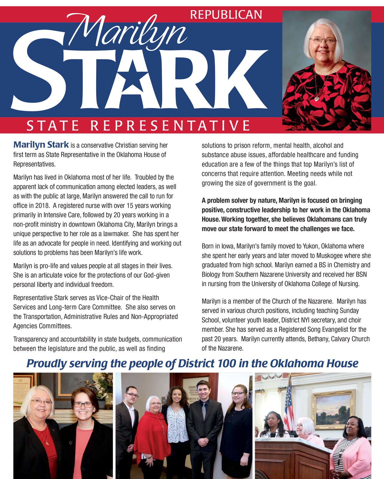 Proudly serving the people of District 100 in the Oklahoma House